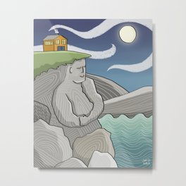 At Home By the Sea Metal Print