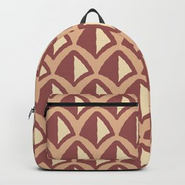 Classic Hollywood Regency Pyramid Pattern 237 Brown and Beige Backpack