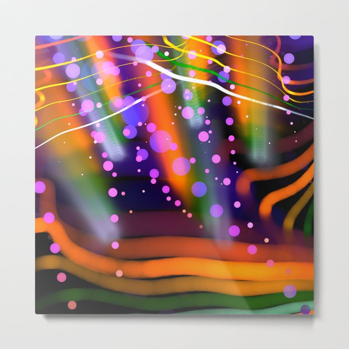 Cheery colourful abstract Metal Print