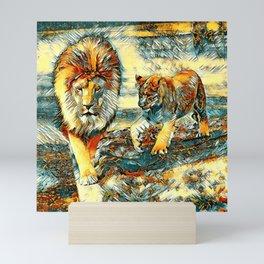 AnimalArt_Lion_20171017_by_JAMColors Mini Art Print