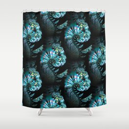 Modern paisley - Mystic fractal swirls pattern Shower Curtain
