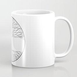 black and white minimalist tree of life line drawing Coffee Mug