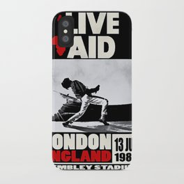 Live Aid 1985 Vintage Concert Festival Gig Advertising Music Poster iPhone Case