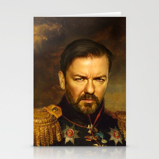 Ricky Gervais - replaceface Stationery Cards