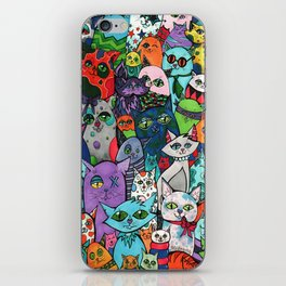 Crazy Cats Color  iPhone Skin