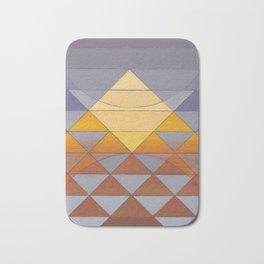 Pyramid Sun Mauve Purple Bath Mat