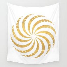 GOLD TORUS circular sacred geometry Wall Tapestry