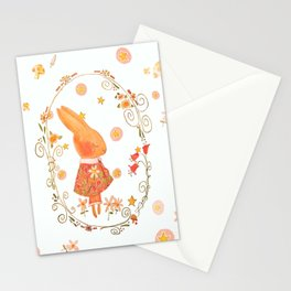 Bunny Hugs Stationery Cards