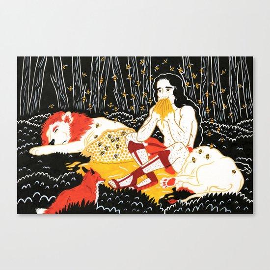 Samson (by Alexandra Beguez) Canvas Print