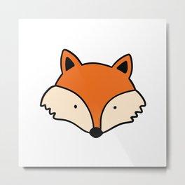 Simple red fox Metal Print