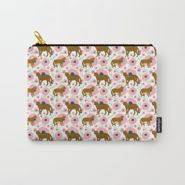 Cheetahs in Flowers Carry-All Pouch