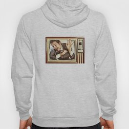 Man trapped in TV Hoody