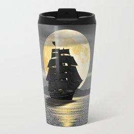 A ship with black sails Travel Mug