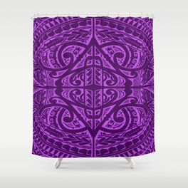 Polynesian inspired design Shower Curtain