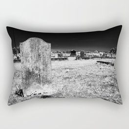 Gravestone in a cemetery on the side of Pacific Coast Highway. Rectangular Pillow
