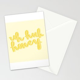 Uh Huh Honey Yellow Stationery Cards