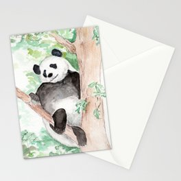 Panda, Hanging Out Stationery Cards