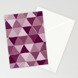 Purple Triangles Stationery Cards