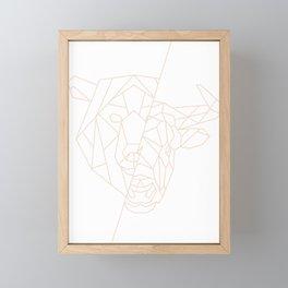 geometric bear bull  Framed Mini Art Print