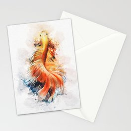 Betta Fish Watercolor Stationery Cards
