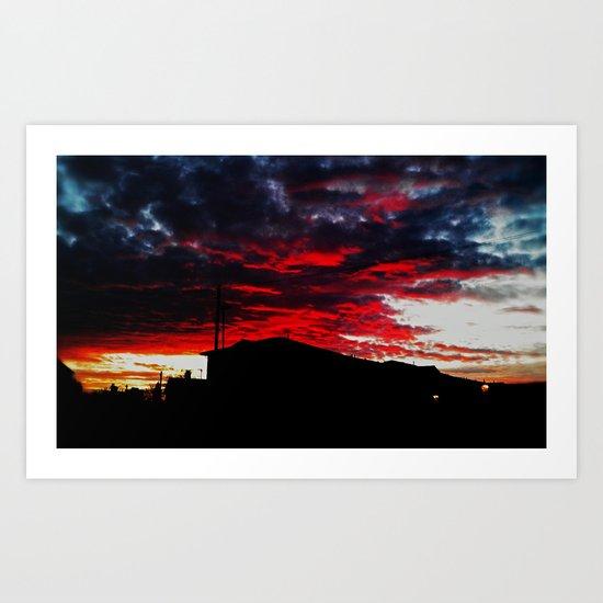 Red Sky Apocalypse  Art Print