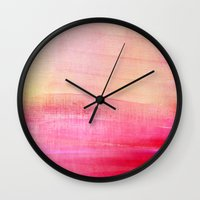 tequila Wall Clocks featuring Tequila sunrise by Iris Lehnhardt