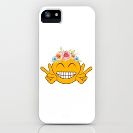 "Peace Shirt To Flaunt Saying ""Smiley Peace"" T-shirt Design Mood Feeling Positive Energy Peaceful iPhone Case"