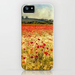 Rainy Day Poppies iPhone Case