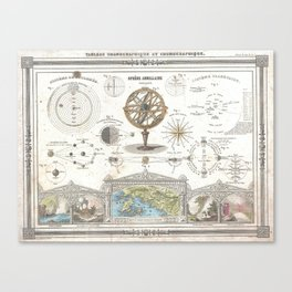 Uranographic and Cosmographic Chart (1852) Canvas Print