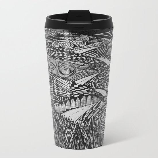 Black Mountain Pass Metal Travel Mug