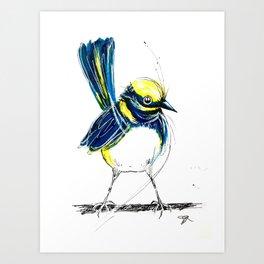 Wagtails 3. Art Print