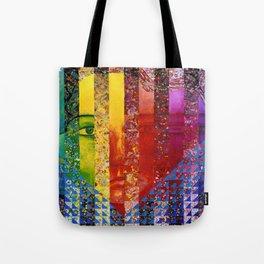 Conundrum I - Abstract Rainbow Goddess Tote Bag