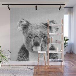 Koala - Black & White Wall Mural