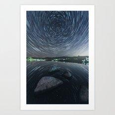 Mirrored Rotation Art Print