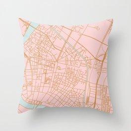 Bangkok map Throw Pillow