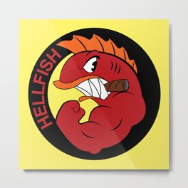 Join the hellfish Metal Print