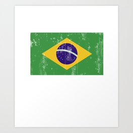Brazil flag - it's in my DNA Art Print