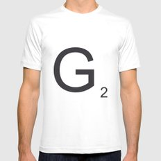 Scrabble G Mens Fitted Tee MEDIUM White