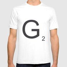 Scrabble G MEDIUM Mens Fitted Tee White