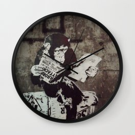 Monkey Terrorism  Wall Clock