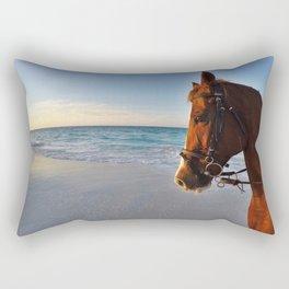 Beach Horse Rectangular Pillow