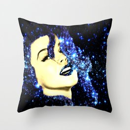 Baby, You're A Star : Royal Midnight Blue Throw Pillow