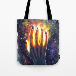 Hand study #4. Touch the stars Tote Bag