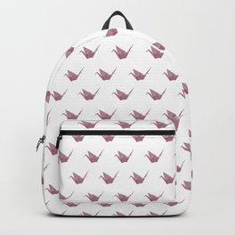 Rose Pink Japanese Crane Origami Backpack