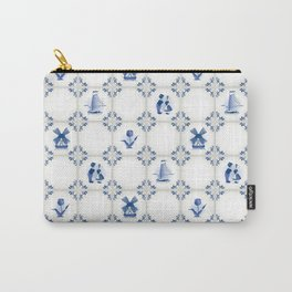 Delft Blue Holland Pottery Carry-All Pouch
