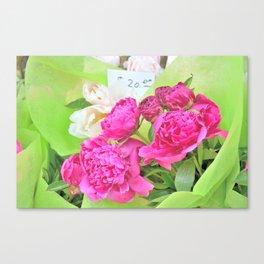 Floral Notes Canvas Print