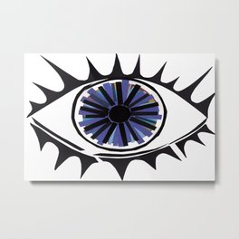 Blue Eye Warding Off Evil Metal Print