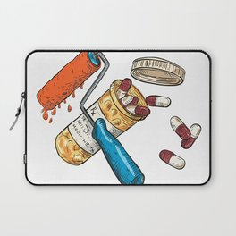 Paint Roller Medicine Capsule Bottle Drawing Color Laptop Sleeve