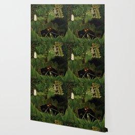 """Henri Rousseau """"Merry jesters"""", 1910 Wallpaper"""