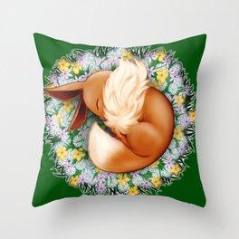 Peaceful Sleep (Eevee) Throw Pillow